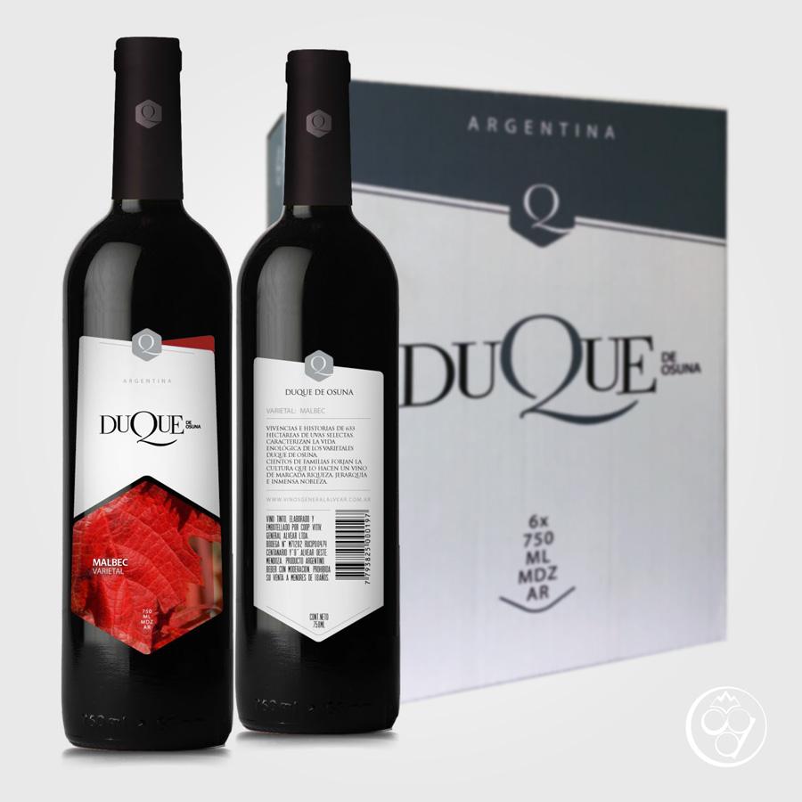 Caja de vino Malbec de Mendoza