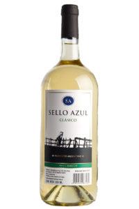 vino blanco clasico sello azul